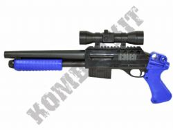 M47B1 Shotgun Pump Action Airsoft BB Gun Black and Blue